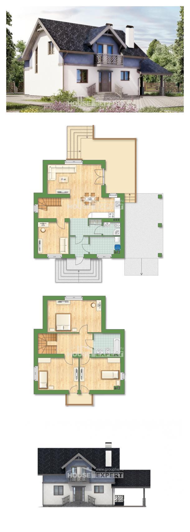 Проект дома 150-011-П   House Expert